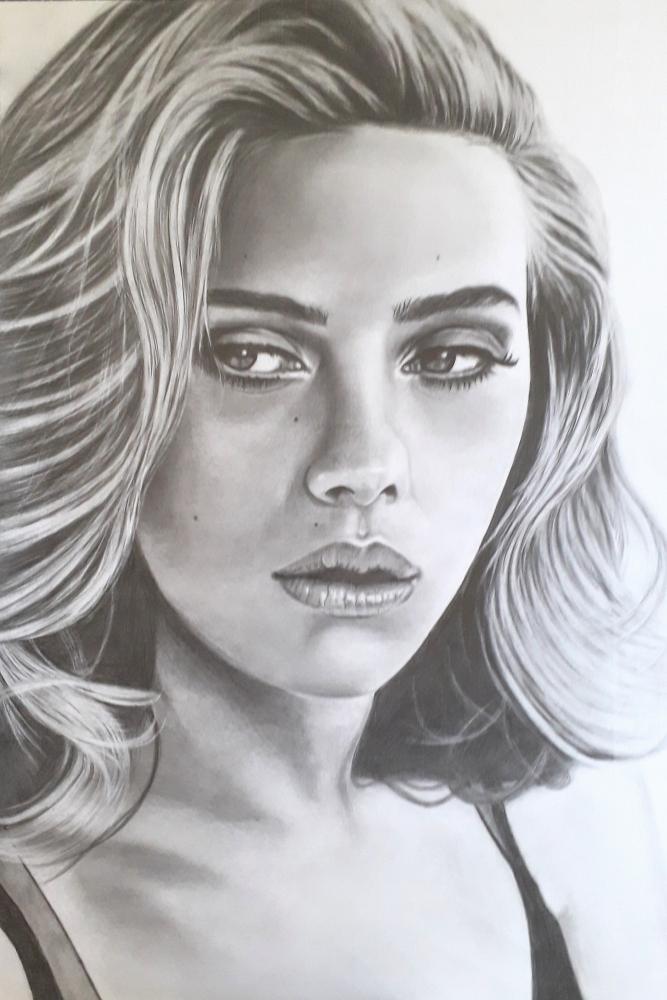 Portrait Of Scarlett Johansson By Lorancie On Stars Portraits